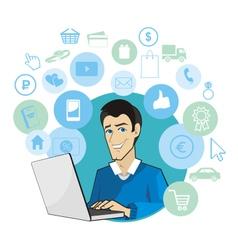 Shop internet vector