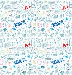 Back to School seamless pattern with Hand-Drawn vector image