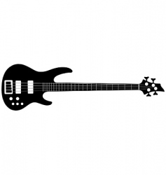 bass guitar vector image