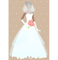 Beautiful girl in wedding dress vector image vector image
