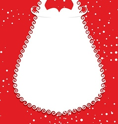 Big white beard Santa Claus on red background vector image vector image