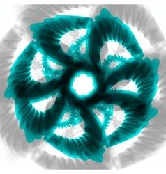 Blue wavy background vector image vector image