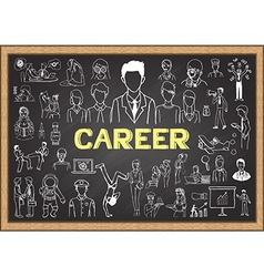 Career on chalkboard vector