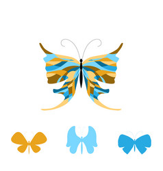 collection of colorful butterflies vector image vector image