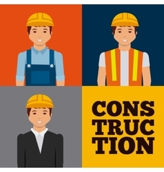 Construction workers cartoon icon vector