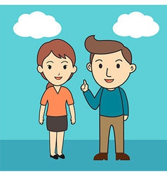 Couple cartoon character vector