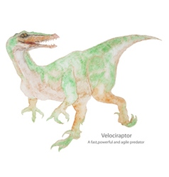 Dinosaurs water color vector