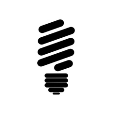 Eco lightbulb icon image vector