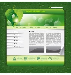 Ecology website template vector