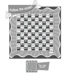 Follow the smile black white vector