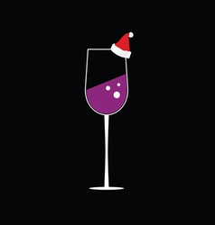 Glass of wine color vector