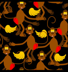 hamadryad seamless pattern monkey red butt and vector image
