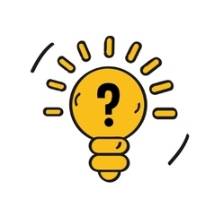 idea icon isolated on white background Cartoon vector image