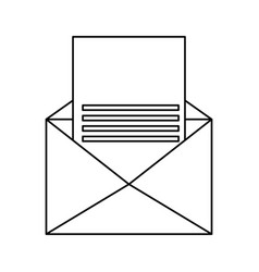 Isolated paper envelope vector