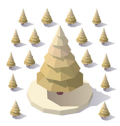 low poly pine tree vector image