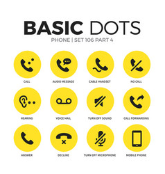 phone flat icons set vector image