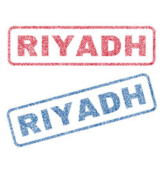 Riyadh textile stamps vector