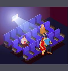 romantic dating in cinema vector image vector image