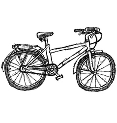 scribble series - bicycle vector image
