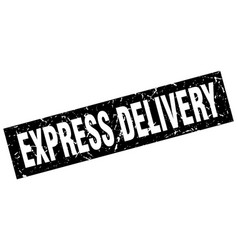 Square grunge black express delivery stamp vector