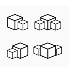 sugar logo or symbol icon vector image vector image