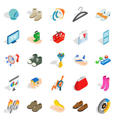 Target audience icons set isometric style vector