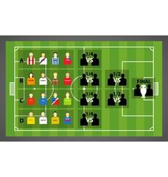 tournament scheme vector image vector image