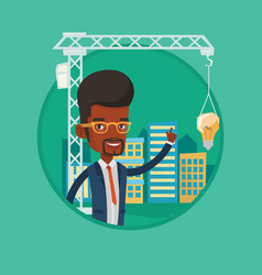 architect having idea in town planning vector image
