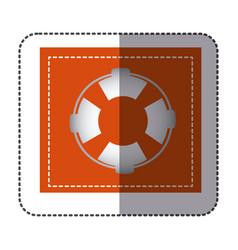 color sticker frame with flotation hoop vector image