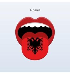 Albania language abstract human tongue vector
