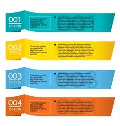 Set of colorful horizontal paper banners vector