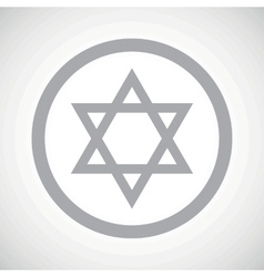 Grey star of david sign vector