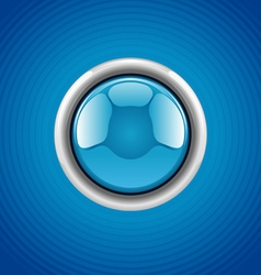 Blue round button vector