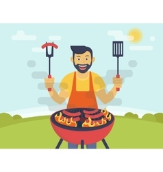 Bbq cooking party vector