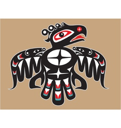 thunderbird - native american style vector image