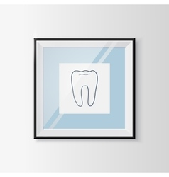 Dentistry sketch symbol in a frame vector image