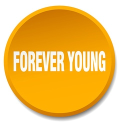 Forever young orange round flat isolated push vector
