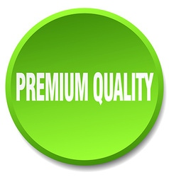 Premium quality green round flat isolated push vector