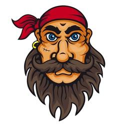Old corsair in cartoon style vector