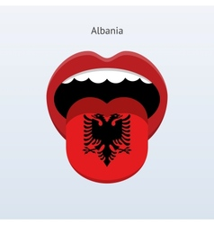 Albania language abstract human tongue vector