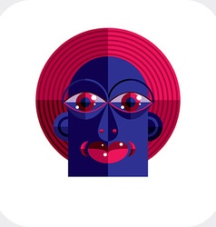 Avant-garde avatar personality face created in vector