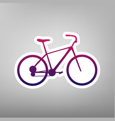 Bicycle bike sign purple gradient icon vector