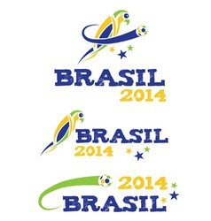 Brasil 2014 with parrot vector