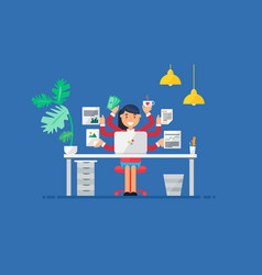 Creative tech workspace vector