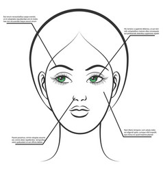 female face information poster vector image vector image