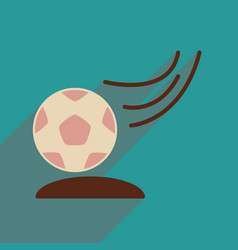 Flat web icon with long shadow soccer bal vector