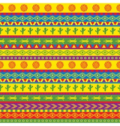 funky mexican pattern vector image vector image