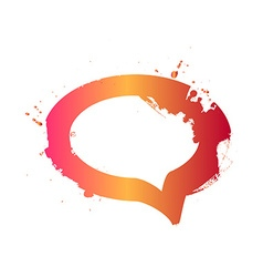 Grunge messenger window icon vector image vector image