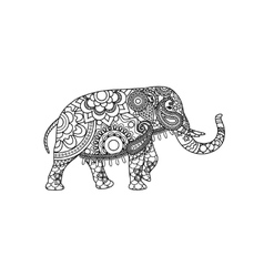 Indian elephant with decorative tribal ornament vector