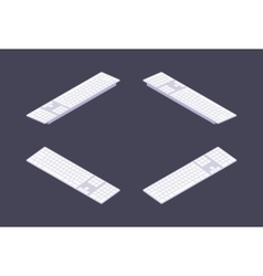 Isometric white PC keyboard vector image vector image